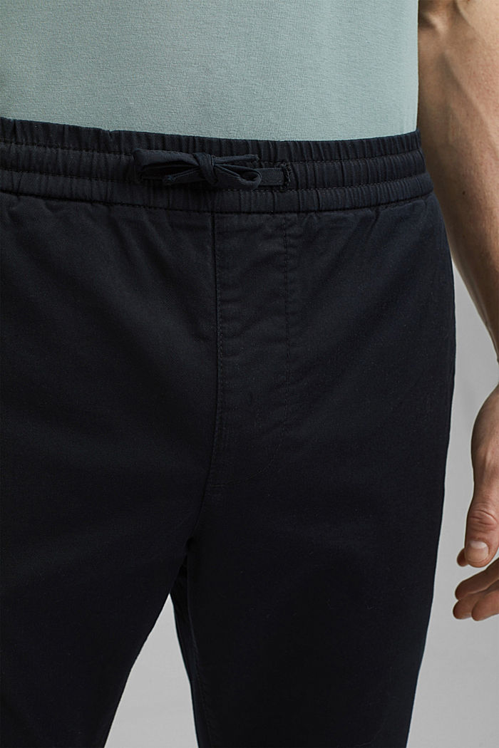 Ankle-length tracksuit bottoms in organic cotton, BLACK, detail image number 2