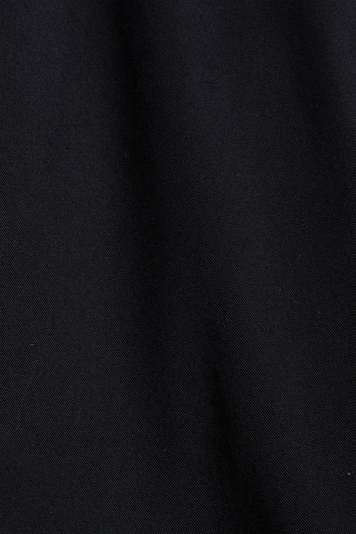 Ankle-length tracksuit bottoms in organic cotton, BLACK, detail image number 4