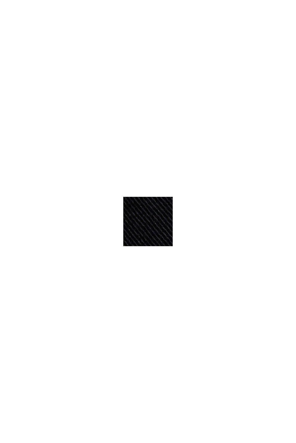 Nilkkapituiset verkkarihousut luomupuuvillaa, BLACK, swatch