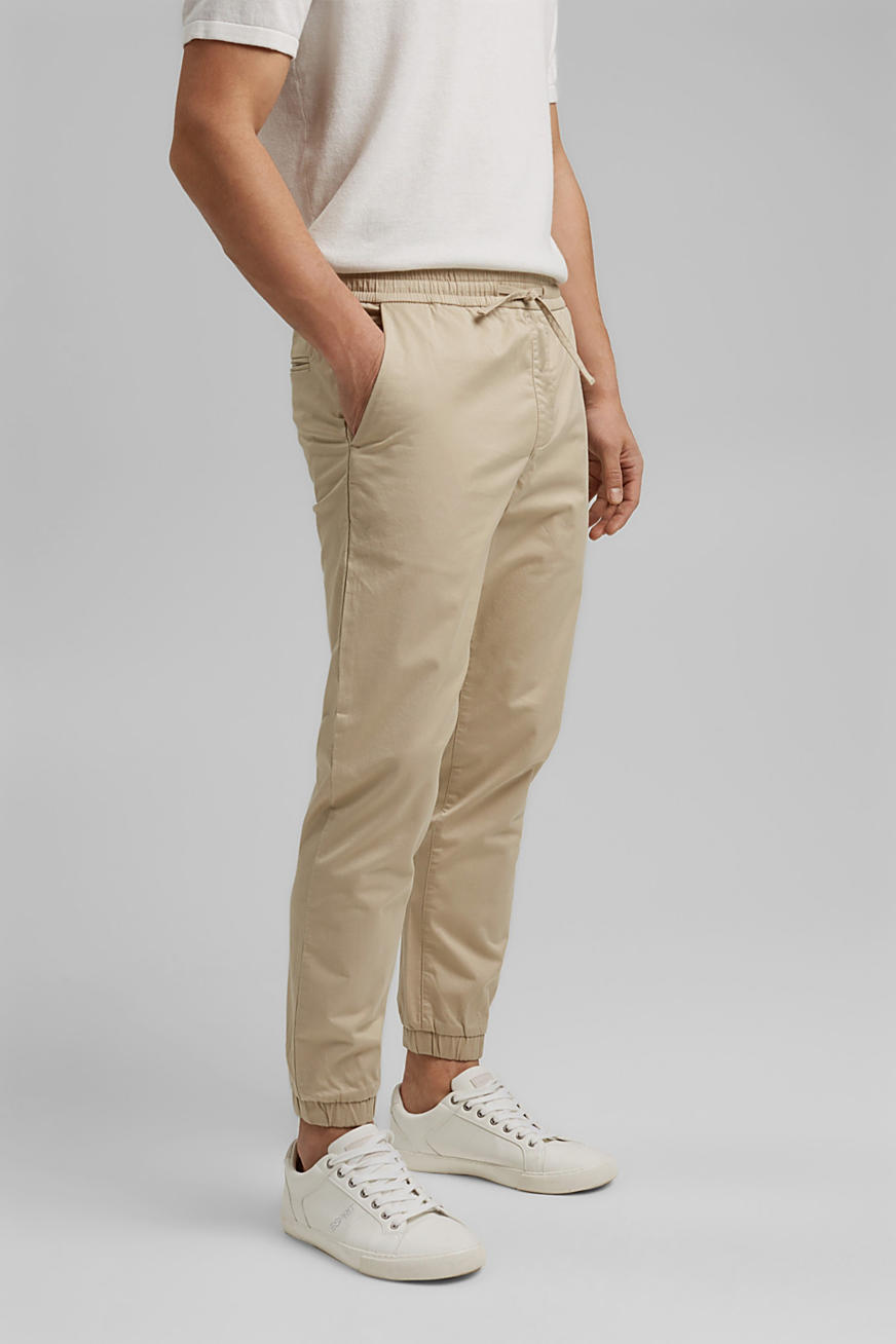 Ankle-length tracksuit bottoms in organic cotton