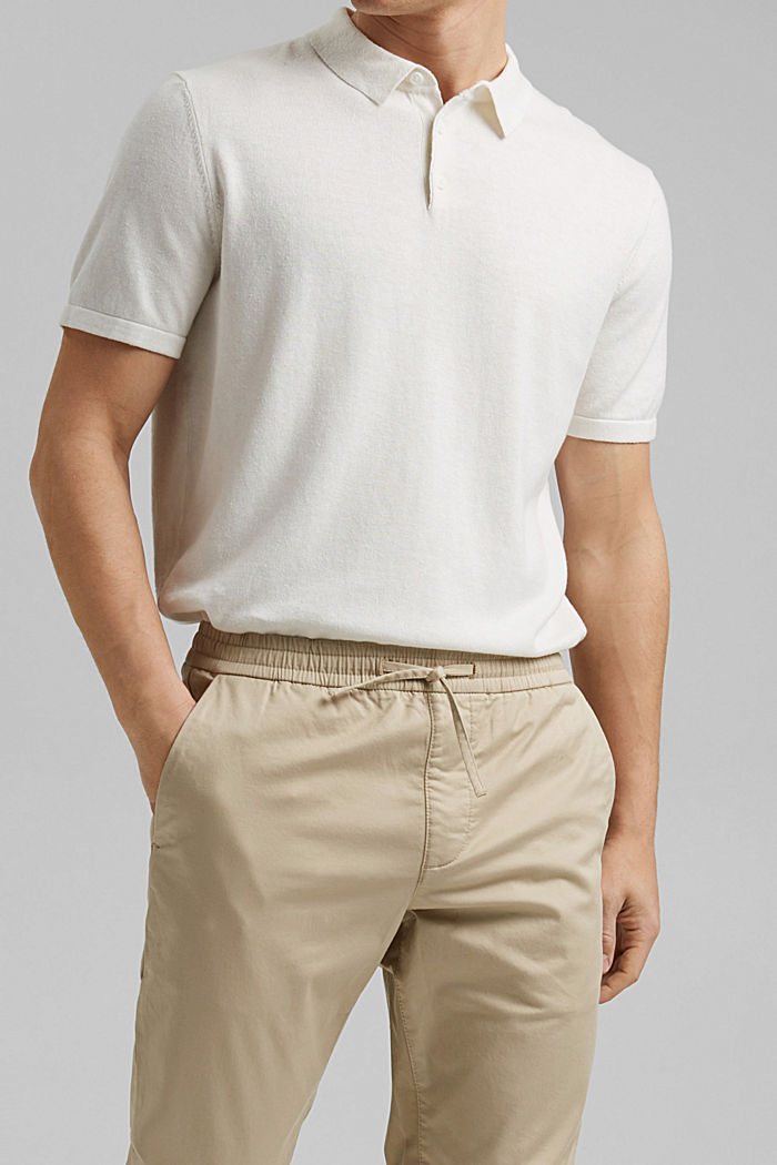 Ankle-length tracksuit bottoms in organic cotton, BEIGE, detail image number 2