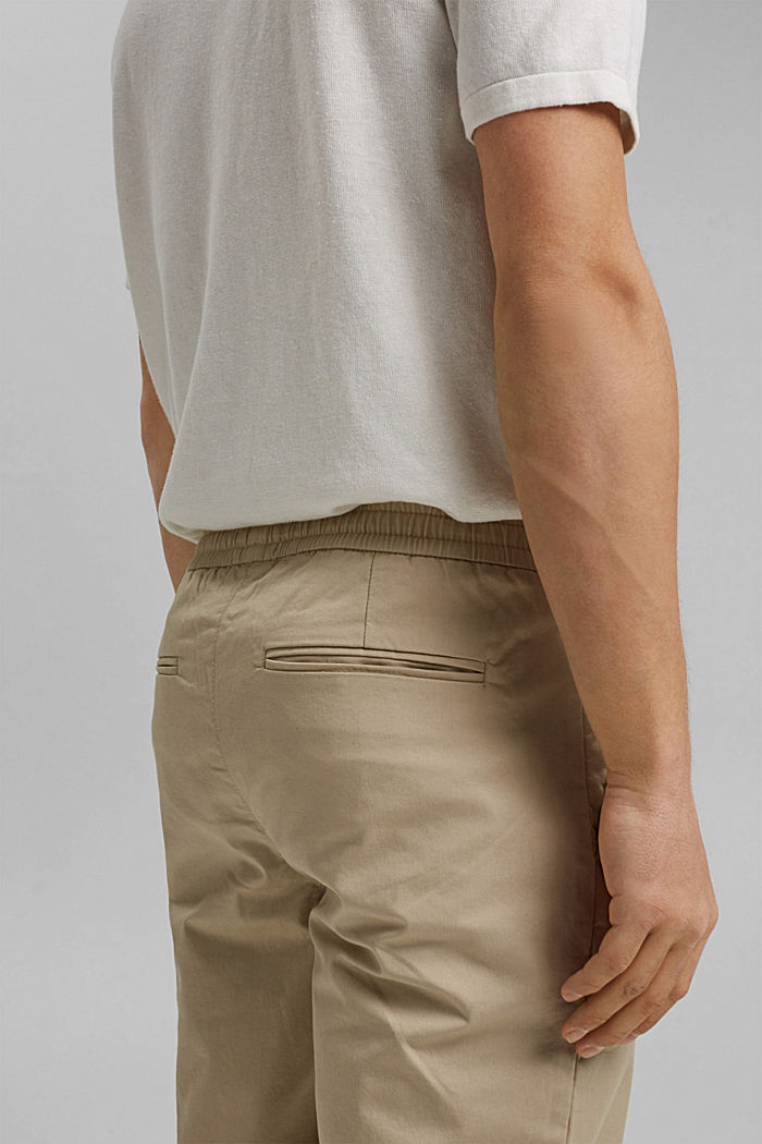 Ankle-length tracksuit bottoms in organic cotton, BEIGE, detail image number 5