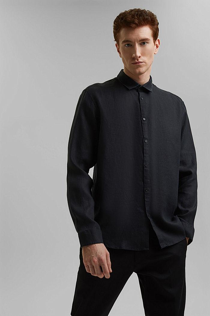 Kvalitetsskjorte i 100% hamp, BLACK, detail image number 0
