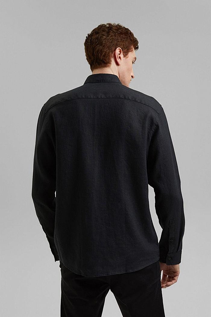 Kvalitetsskjorte i 100% hamp, BLACK, detail image number 3