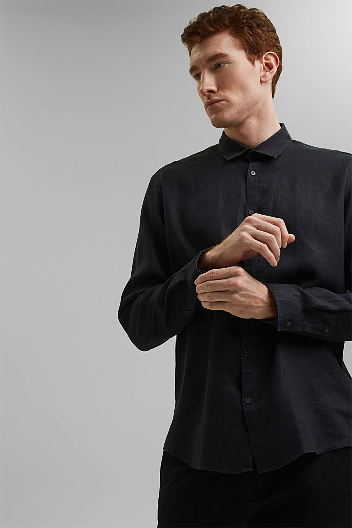 Premium shirt made of 100% hemp, BLACK, detail image number 5