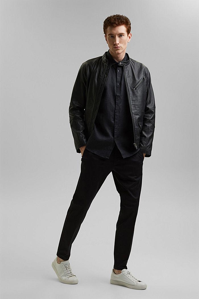 Kvalitetsskjorte i 100% hamp, BLACK, detail image number 1