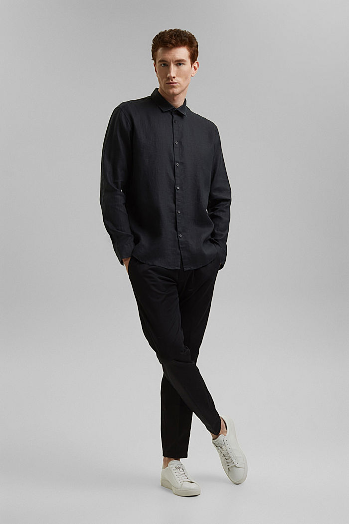 Kvalitetsskjorte i 100% hamp, BLACK, detail image number 7