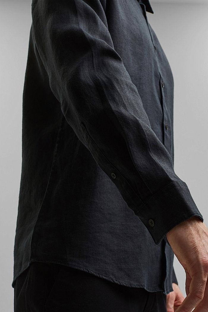 Premium shirt made of 100% hemp, BLACK, detail image number 2