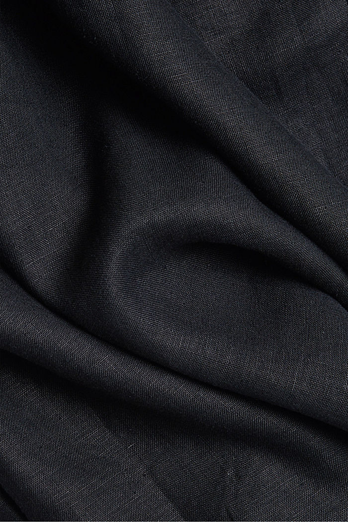 Premium shirt made of 100% hemp, BLACK, detail image number 4