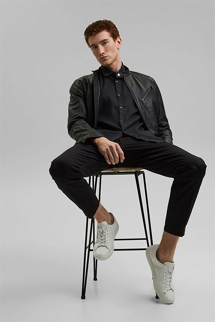 Woven Shirt, BLACK, detail image number 6