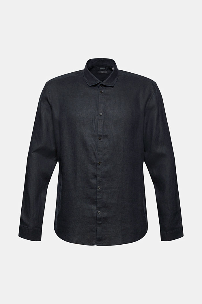 Premium shirt made of 100% hemp, BLACK, overview