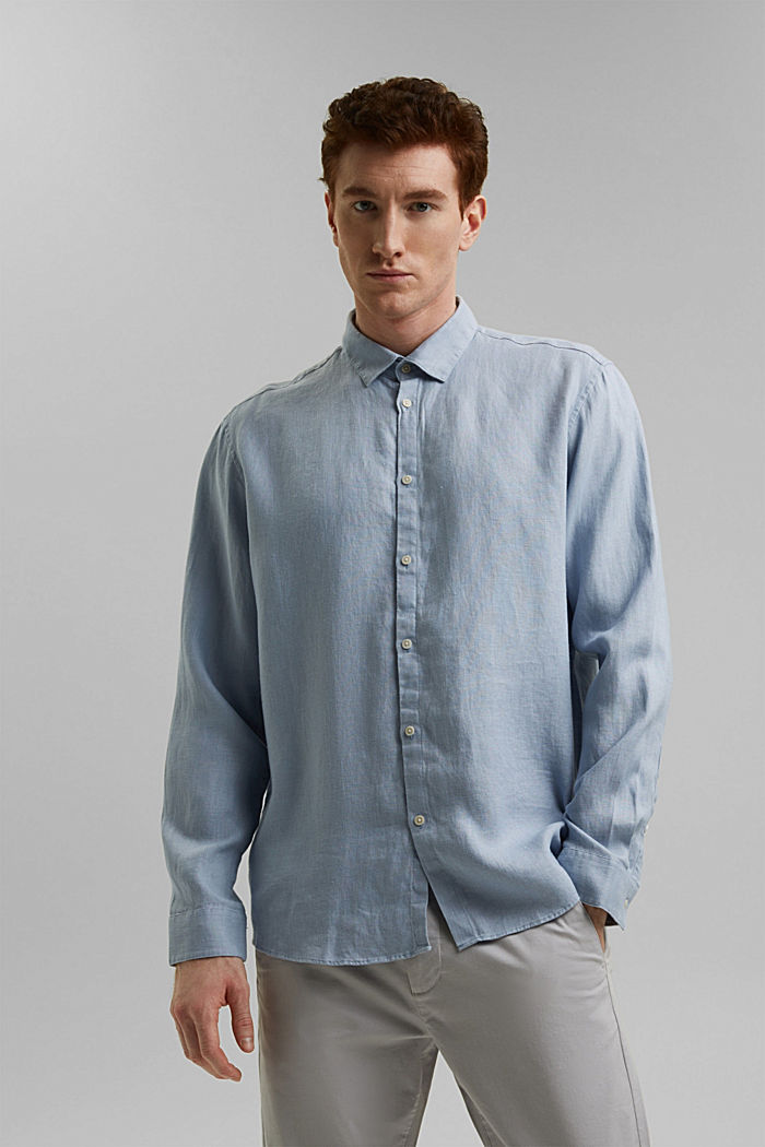 Premium shirt made of 100% hemp, LIGHT BLUE, detail image number 0