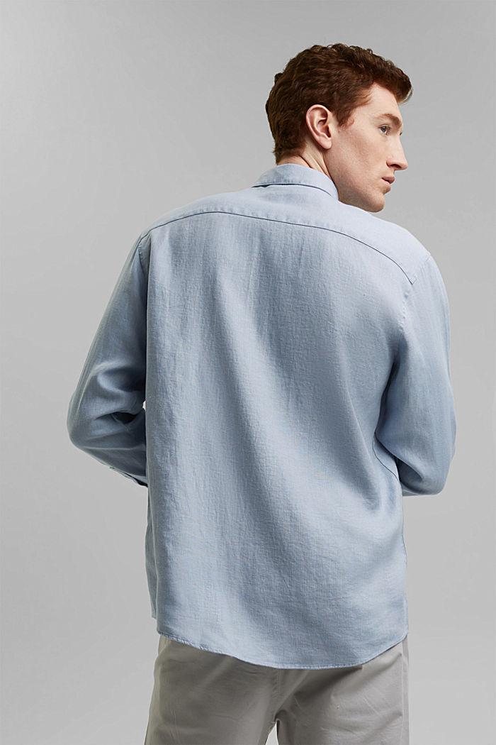 Premium shirt made of 100% hemp, LIGHT BLUE, detail image number 3