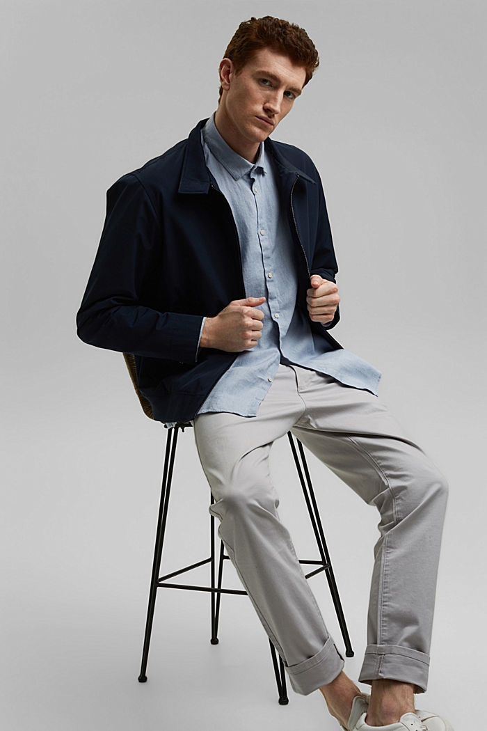 Premium shirt made of 100% hemp, LIGHT BLUE, detail image number 5