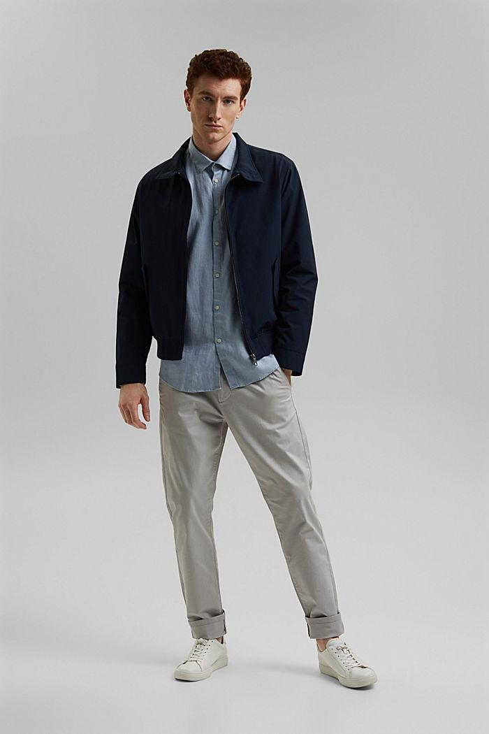 Premium shirt made of 100% hemp, LIGHT BLUE, detail image number 1