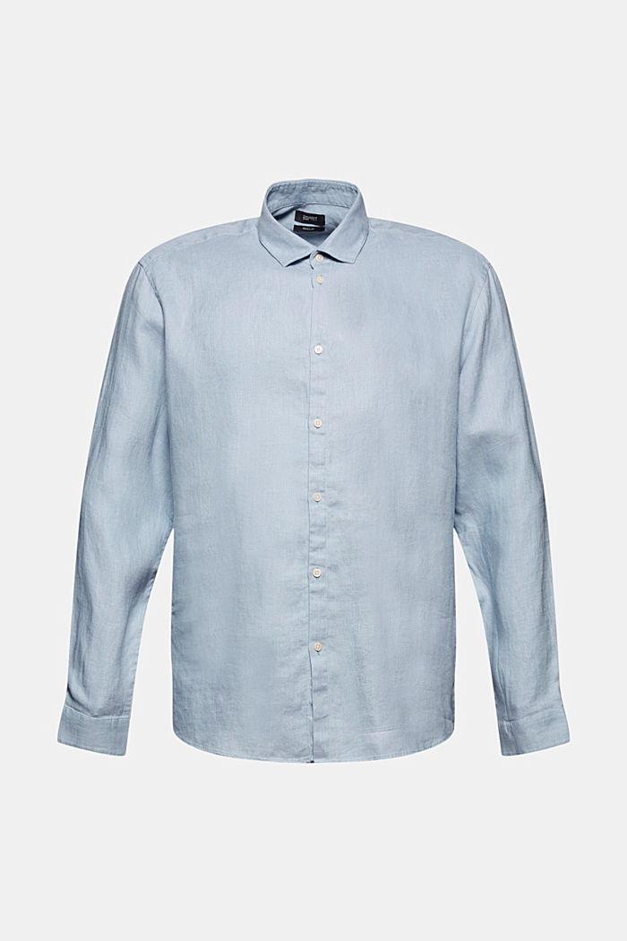 Premium shirt made of 100% hemp, LIGHT BLUE, detail image number 7