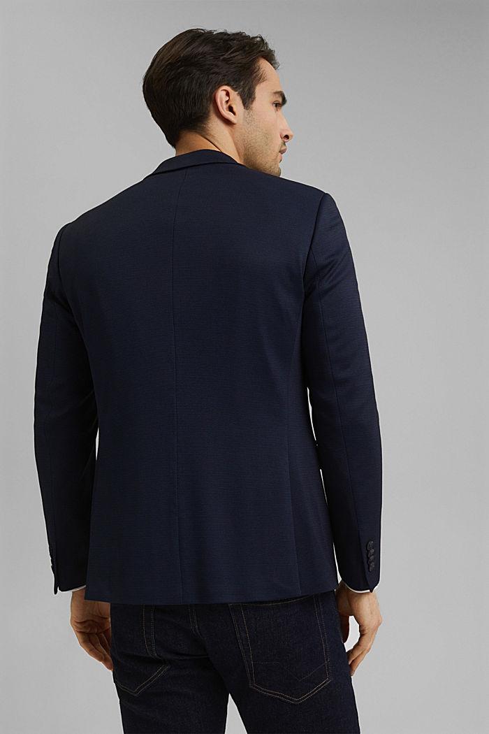 Kohokuvioitu pikkutakki jerseytä, DARK BLUE, detail image number 3