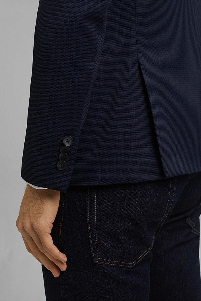Kohokuvioitu pikkutakki jerseytä, DARK BLUE, detail image number 2