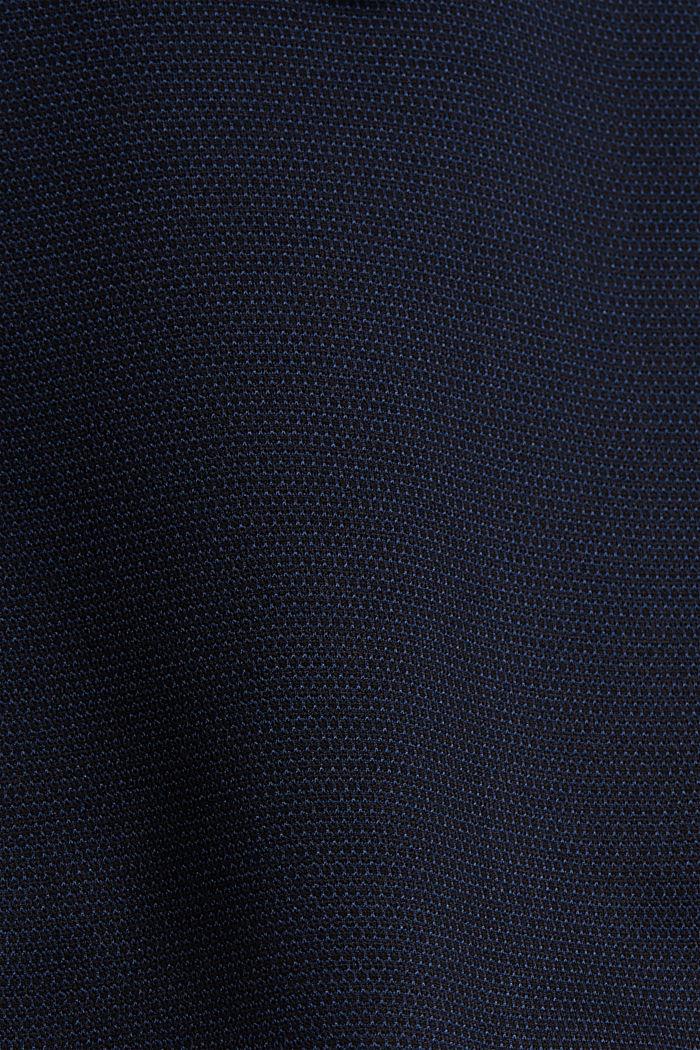 Kohokuvioitu pikkutakki jerseytä, DARK BLUE, detail image number 5