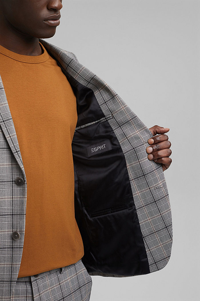 Check mix + match jacket with COOLMAX®, GREY, detail image number 7