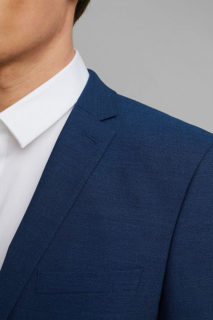 ECOMADE mix + match jacket with COOLMAX®, BLUE, detail image number 2