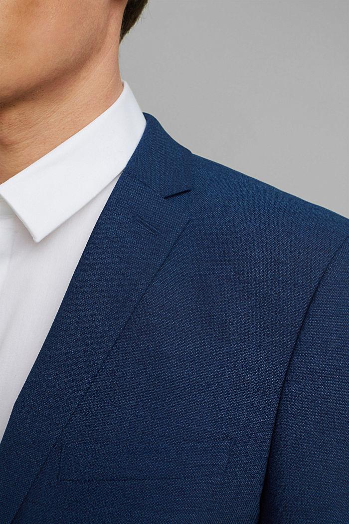 ECOMADE mix + match colbert met COOLMAX®, BLUE, detail image number 2