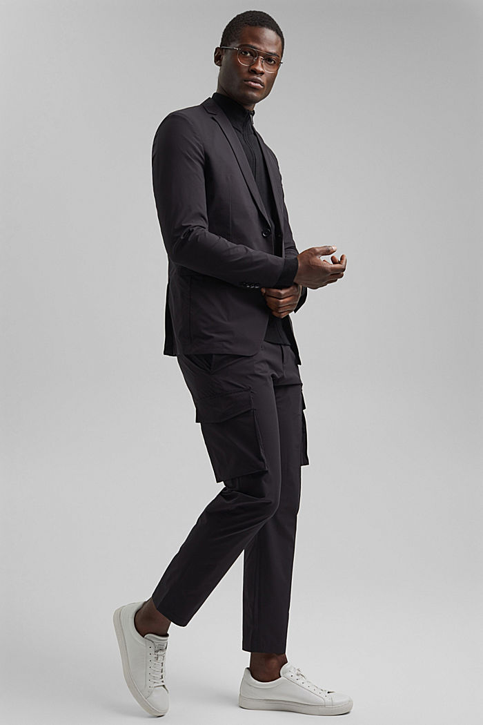 #ReimagineFlexibility: blazer con componente bielástico, BLACK, detail image number 1