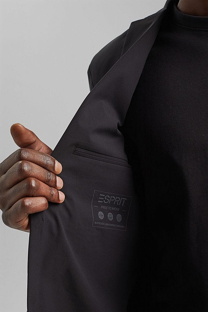 #ReimagineFlexibility: blazer con componente bielástico, BLACK, detail image number 2