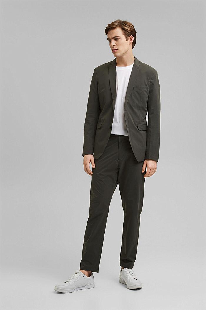 #ReimagineFlexibility: bi-stretch blazer, DARK KHAKI, detail image number 1