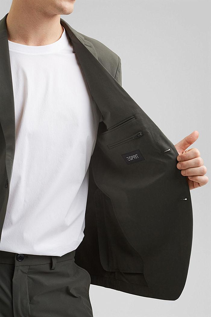 #ReimagineFlexibility: blazer med bi-stretch, DARK KHAKI, detail image number 2