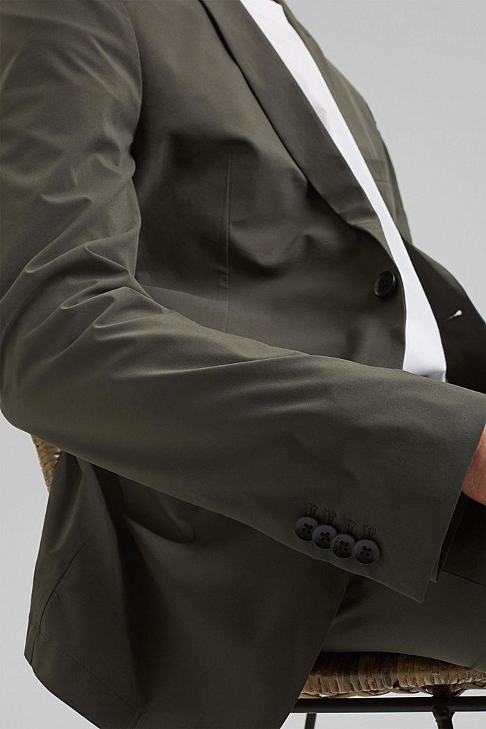 #ReimagineFlexibility: bi-stretch blazer, DARK KHAKI, detail image number 6