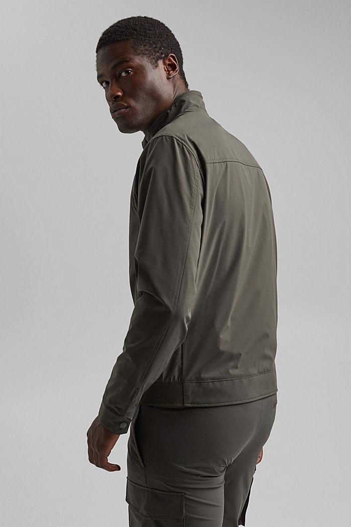 #ReimagineFlexibility: breathable jacket, DARK KHAKI, detail image number 3