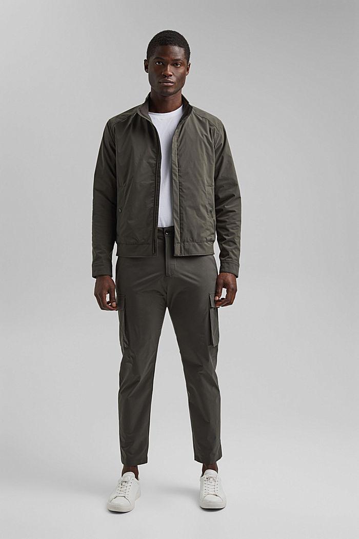 #ReimagineFlexibility: breathable jacket, DARK KHAKI, detail image number 4