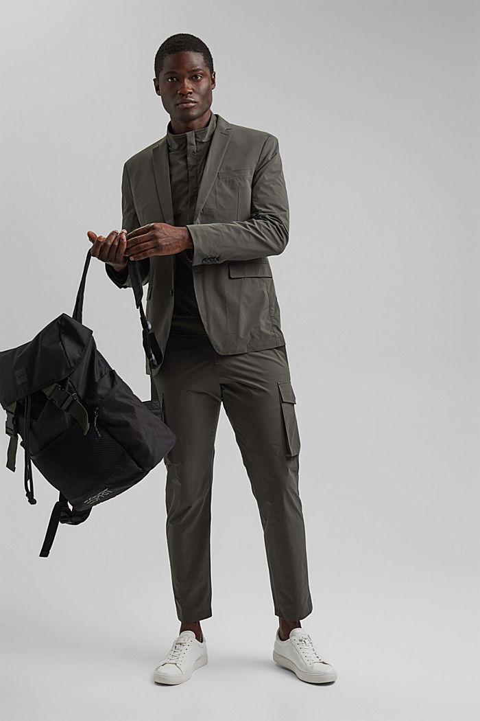 #ReimagineFlexibility: breathable jacket, DARK KHAKI, detail image number 1