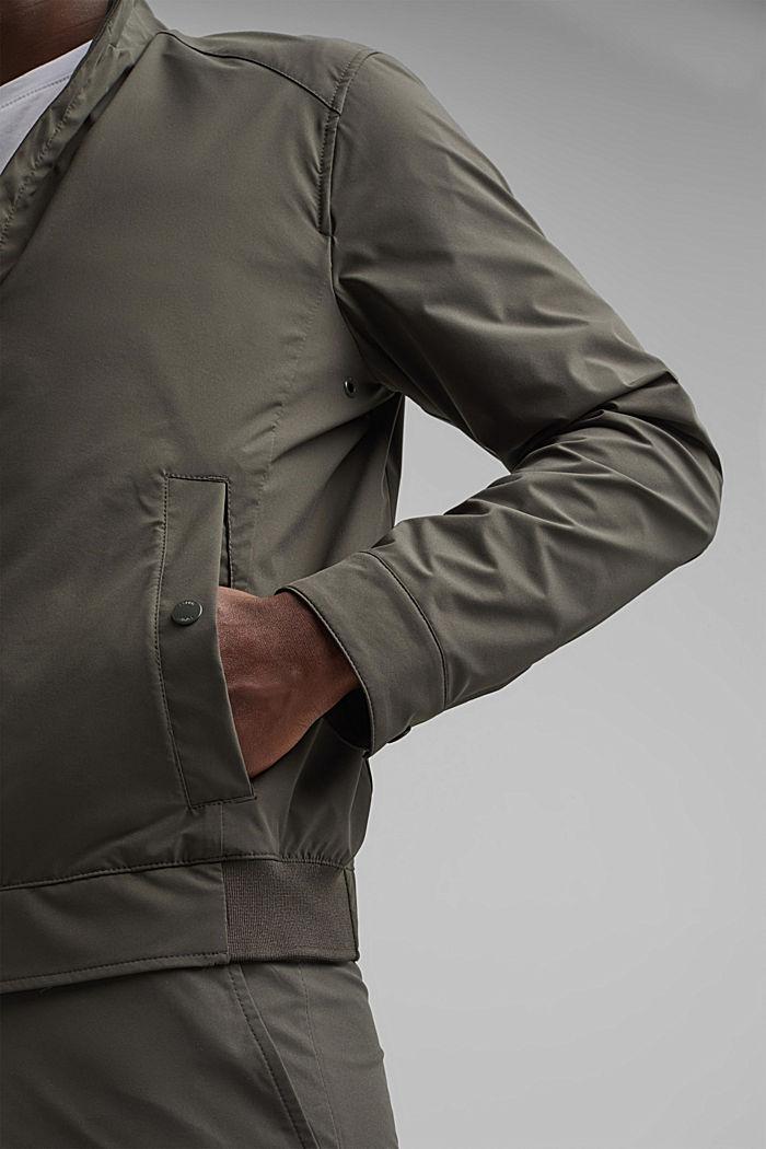 #ReimagineFlexibility: breathable jacket, DARK KHAKI, detail image number 2