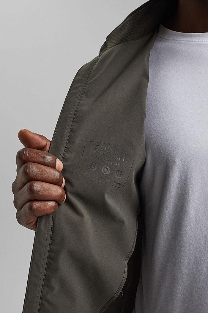 #ReimagineFlexibility: breathable jacket, DARK KHAKI, detail image number 7
