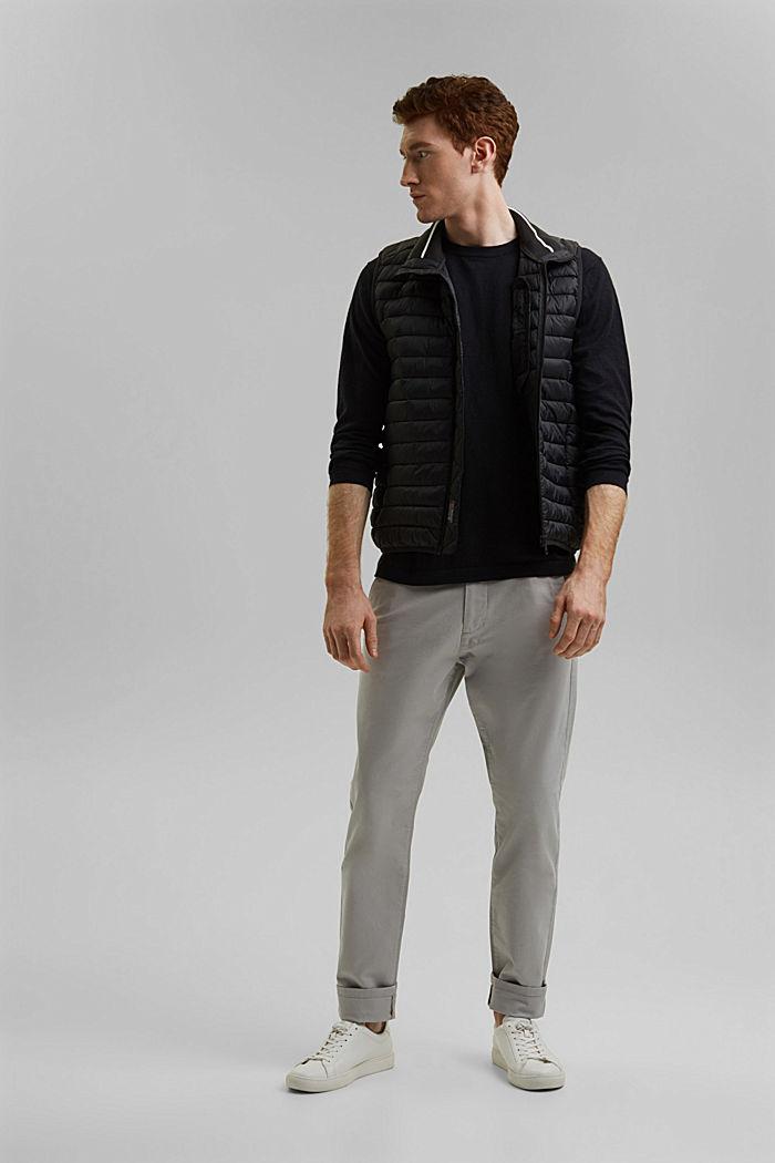 With hemp: Fine knit jumper, BLACK, detail image number 1