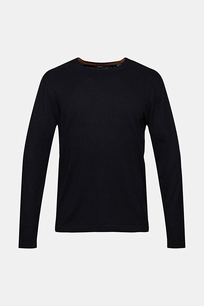 With hemp: Fine knit jumper
