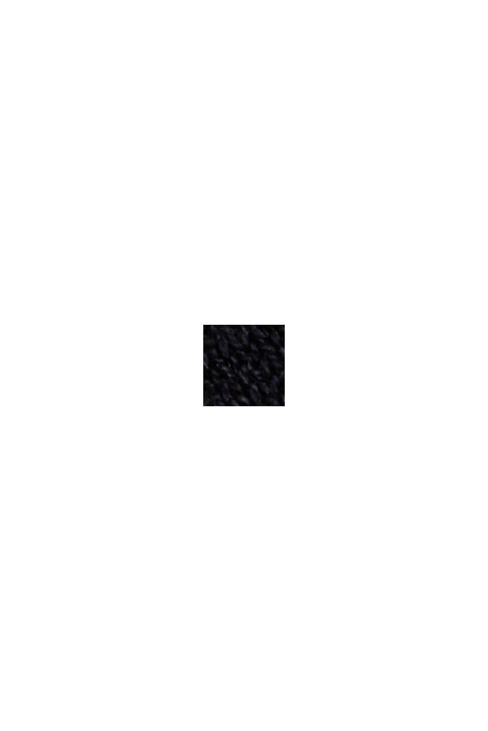 À teneur en chanvre: le pull-over en fine maille, BLACK, swatch