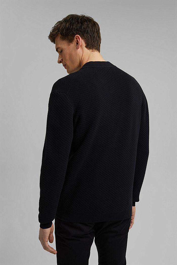 Vest van gemerceriseerd biologisch katoen, BLACK, detail image number 3
