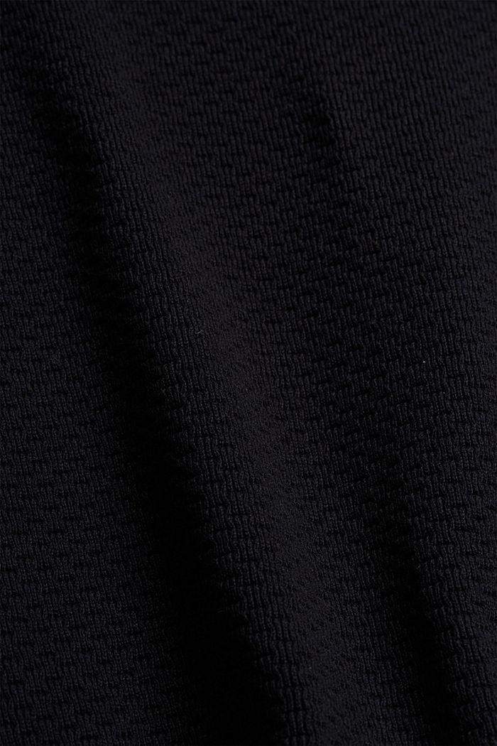 Vest van gemerceriseerd biologisch katoen, BLACK, detail image number 4