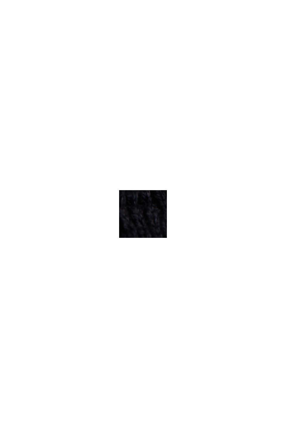 Cárdigan en algodón ecológico mercerizado, BLACK, swatch