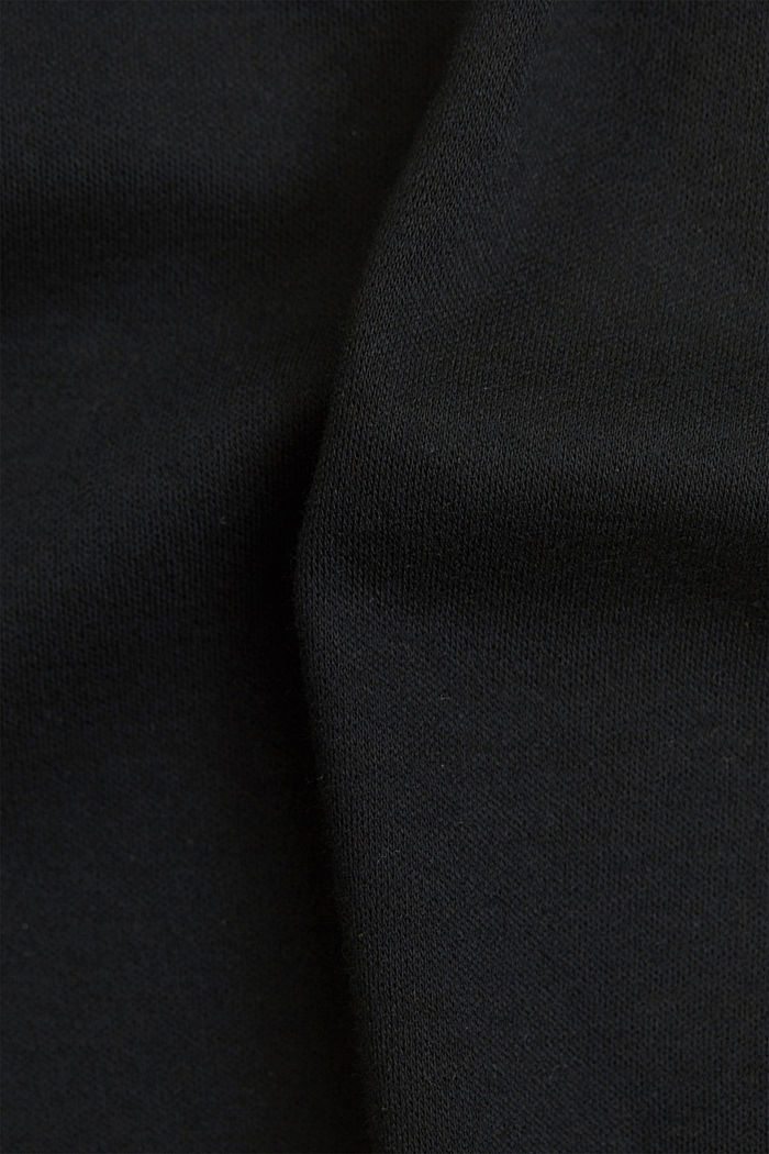 On the move: jersey polo shirt, 100% organic cotton, BLACK, detail image number 4