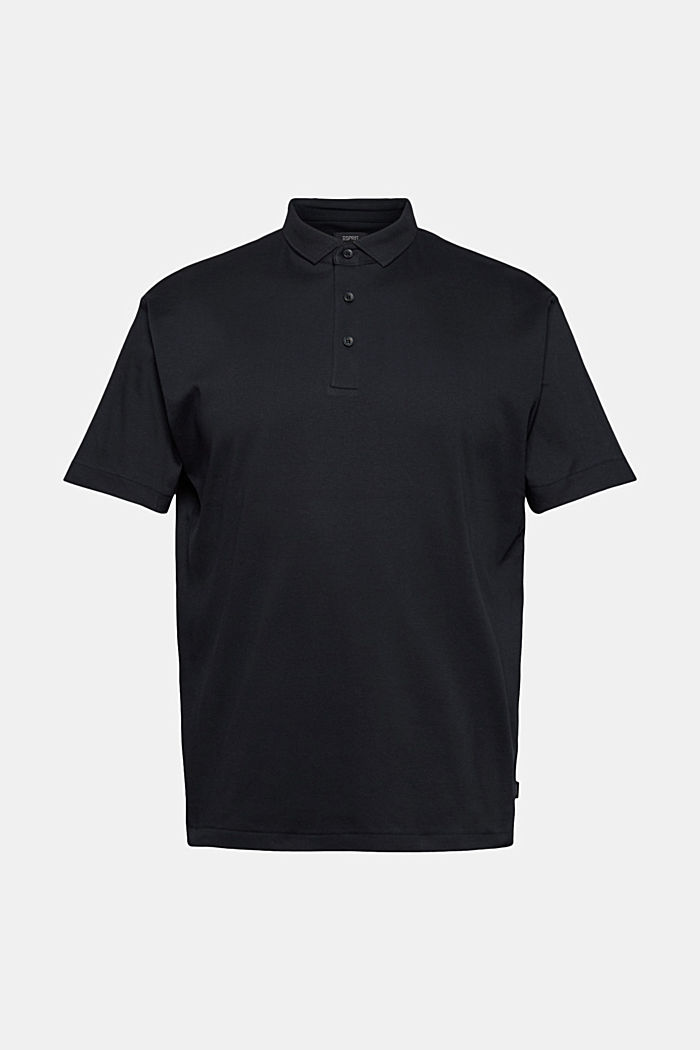 On the move: jersey polo shirt, 100% organic cotton