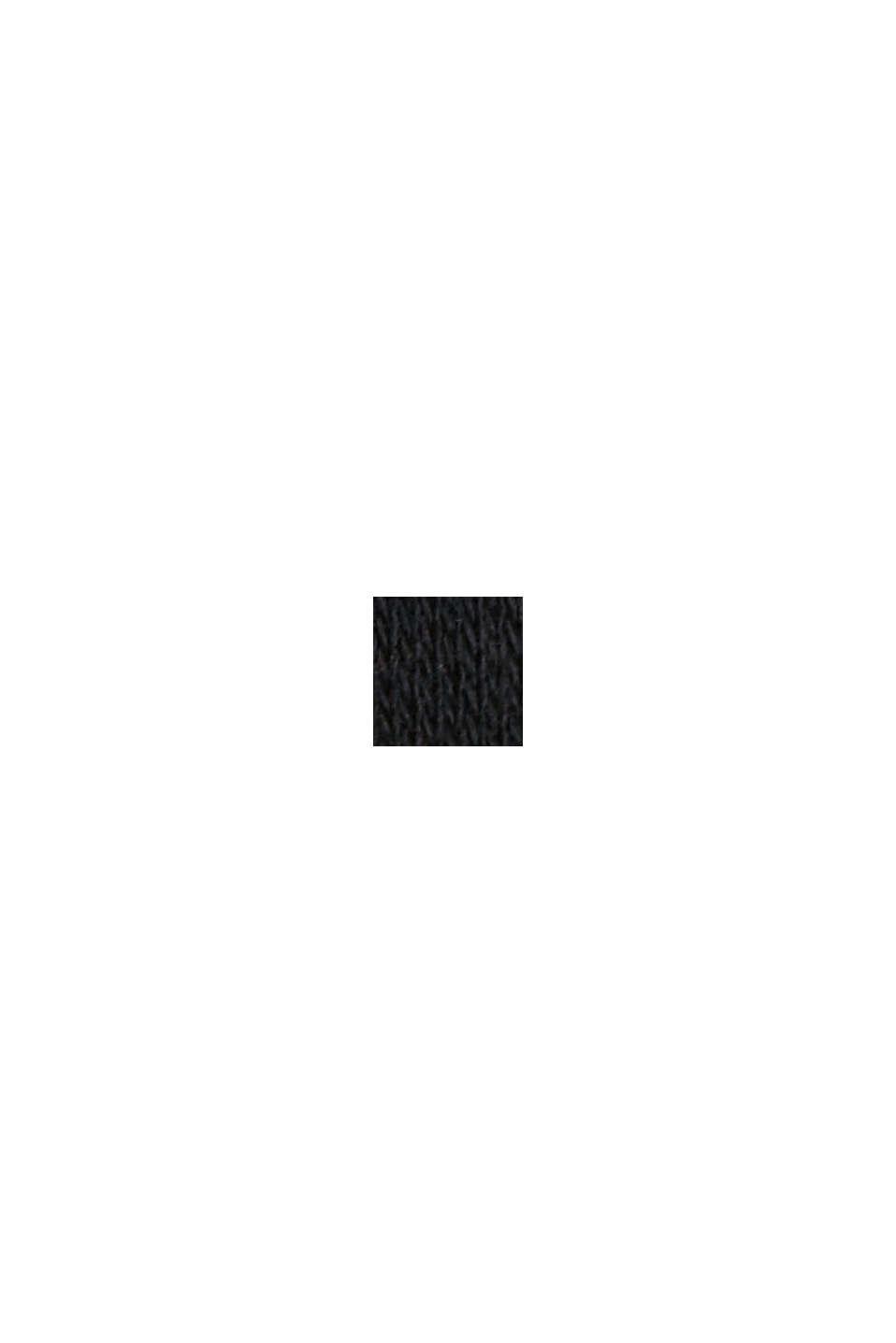 Toujours en action:  polo en jersey, 100% coton biologique, BLACK, swatch