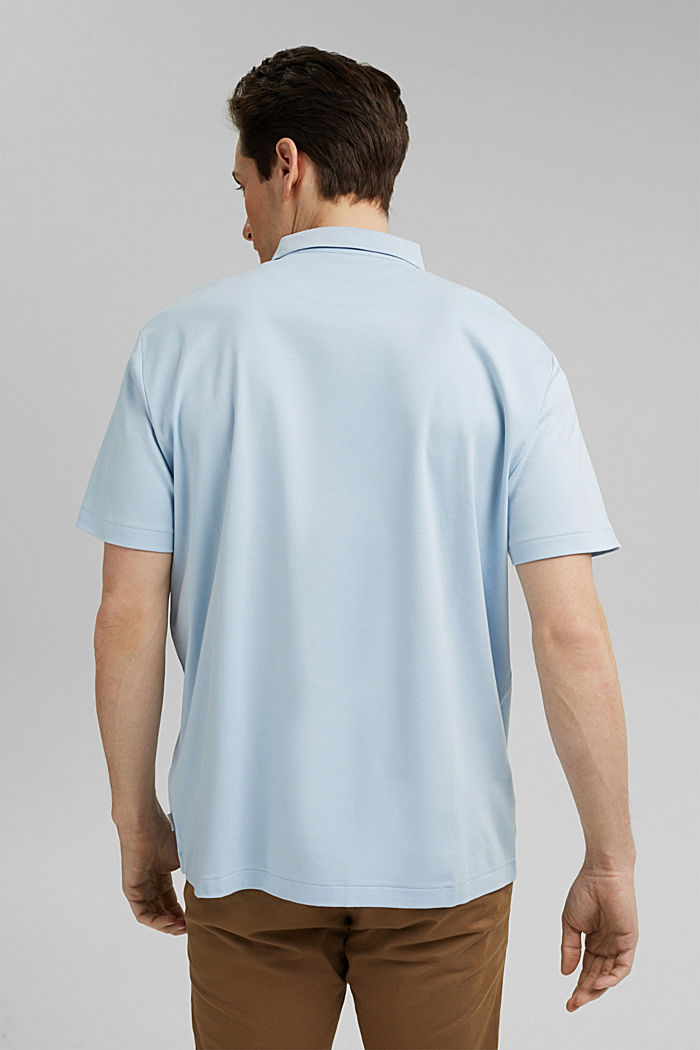 On the move: jersey polo shirt, 100% organic cotton, LIGHT BLUE, detail image number 3