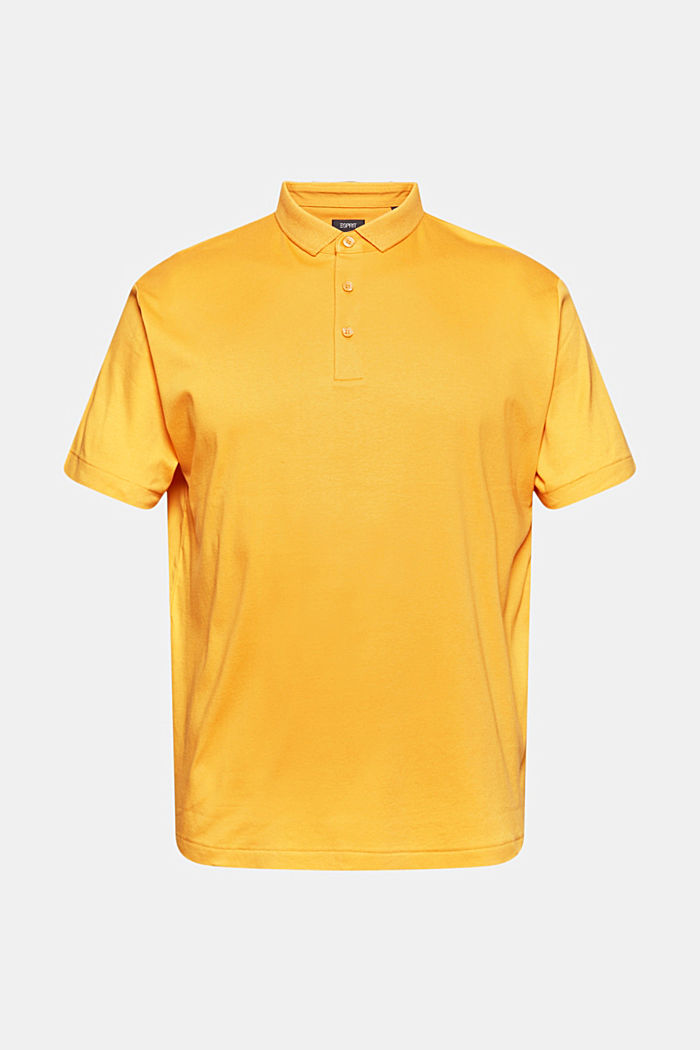 On the move: jersey polo shirt, 100% organic cotton, SUNFLOWER YELLOW, detail image number 5