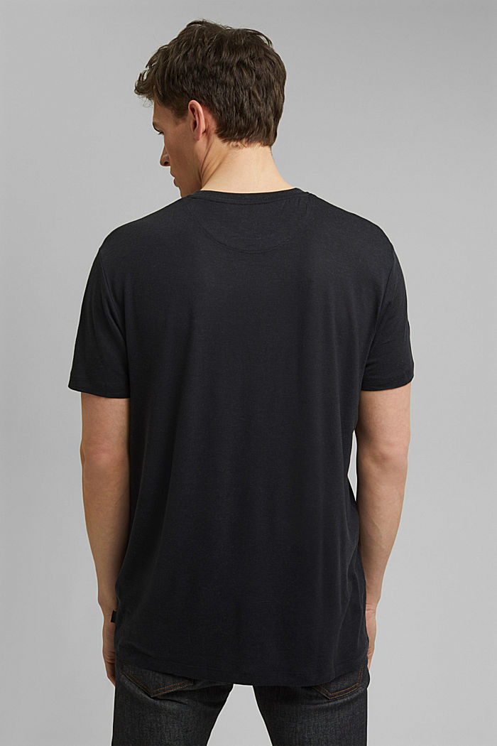 Jersey T-shirt made of lyocell(TENCEL™)/wool, BLACK, detail image number 3