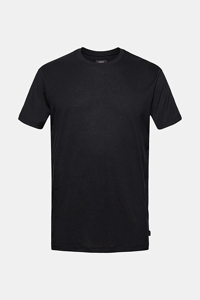Jersey T-shirt made of lyocell(TENCEL™)/wool, BLACK, detail image number 5