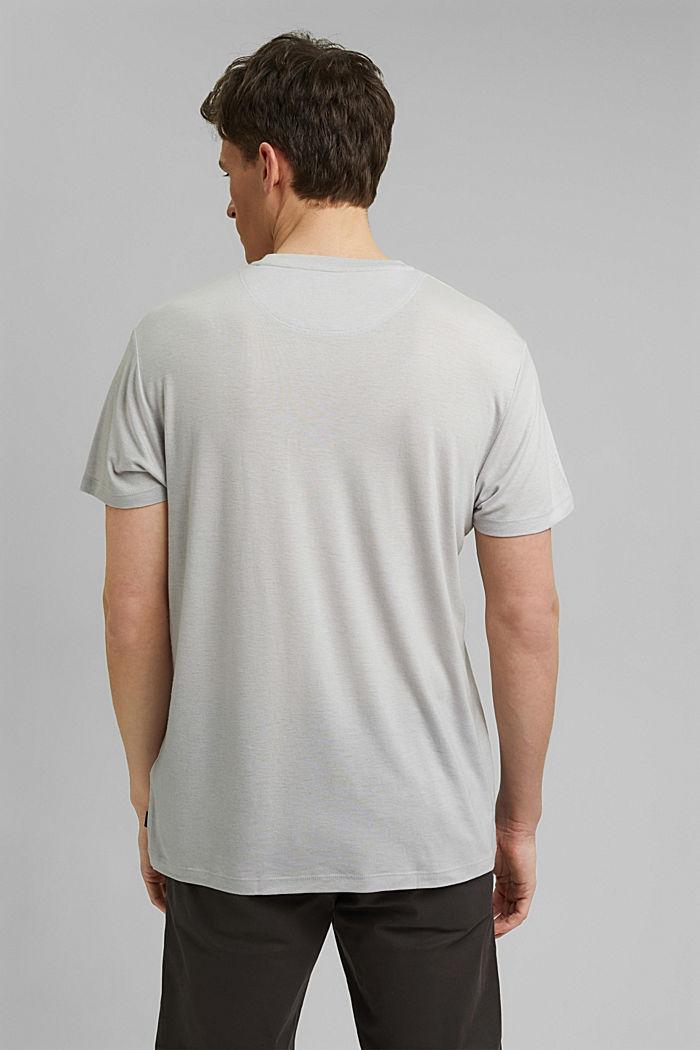 Camiseta de jersey en lyocell (TENCEL™) y lana, LIGHT GREY, detail image number 3